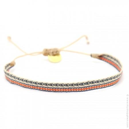 Bracelet Argentinas gris beige orange