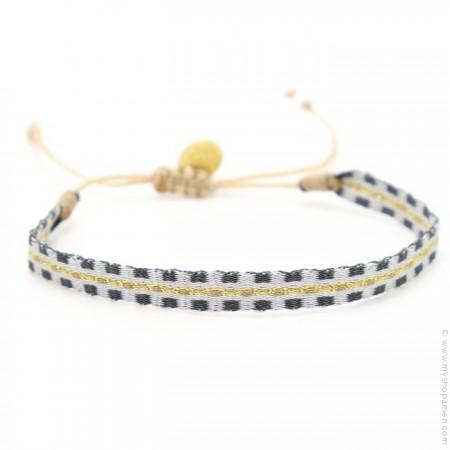 Bracelet Argentinas gris doré anthracite