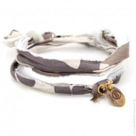 Bracelet vintage camouflage terre