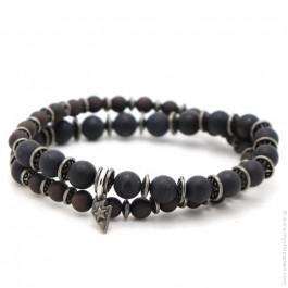 Bracelet Apalache black mat onyx