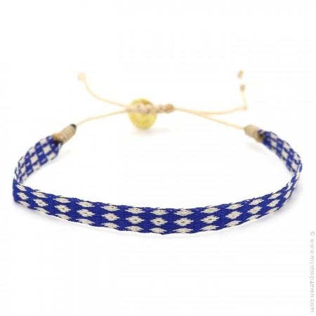 Bracelet Argentinas 120 losanges bleu beige