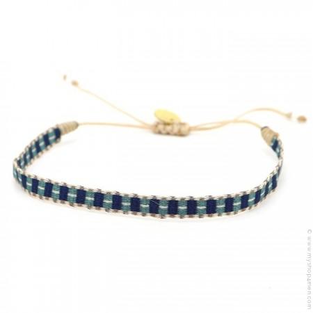 Bracelet Argentinas marine et vert bleu