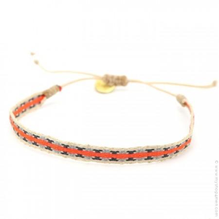 Bracelet Argentinas orange beige gris