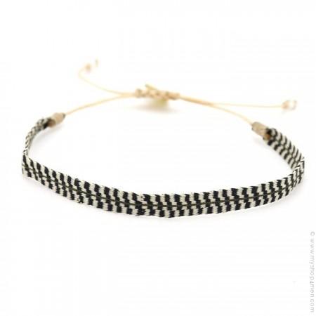 Bracelet Argentinas ivoire et noir