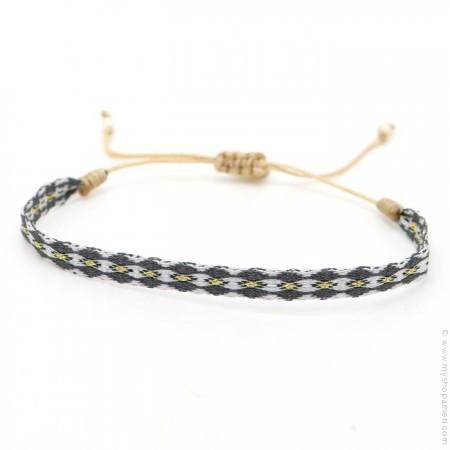 Bracelet Argentinas gris et anthracite
