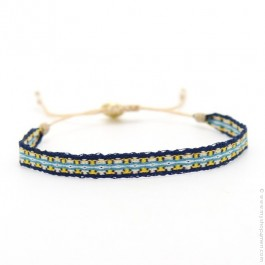 Bracelet Argentinas jaune bleu marine
