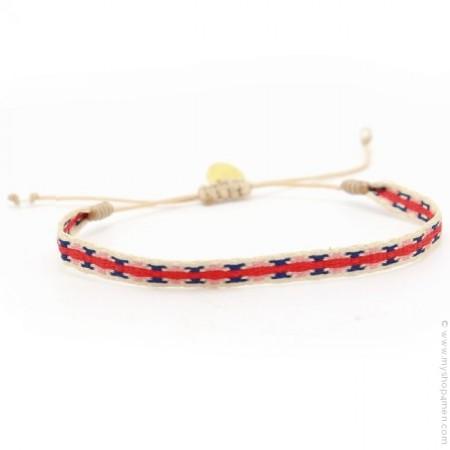Bracelet Argentinas bleu rouge blanc