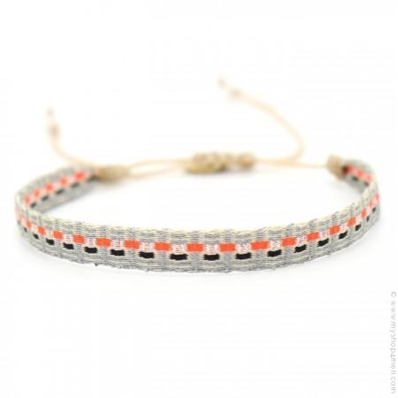 Bracelet Argentinas gris orange marine