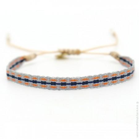 Bracelet Argentinas gris orange bleu