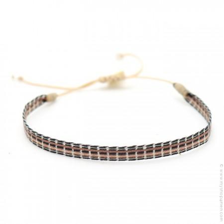 Bracelet Argentinas moka noir