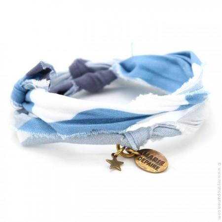 Bracelet vintage camouflage bleu