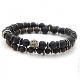 Apalache Skull black matt onyx bracelet