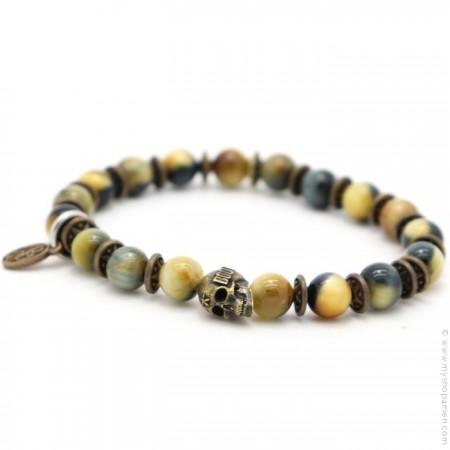 Bracelet Sonora skull yellow tiger