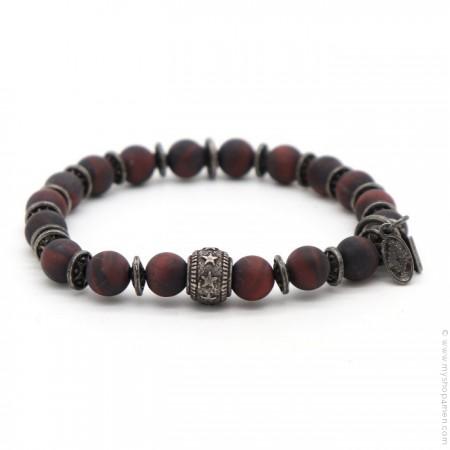 Bracelet Sonora star red iron tiger matt