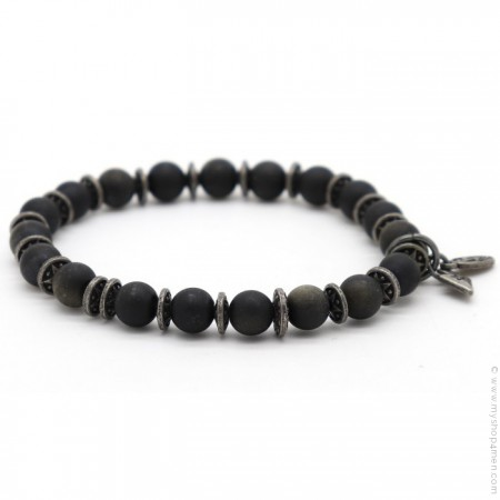 Bracelet Sonora obsidian matt