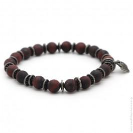 Bracelet Sonora red iron tiger matt