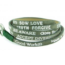 Eco Basic olive bracelet